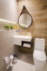 Banheiro da Clínica de Odontologia StudioUno em Brasília DF