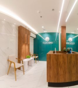 Recepção da StudioUno Odontologia - Clínica de odontologia em Brasília DF