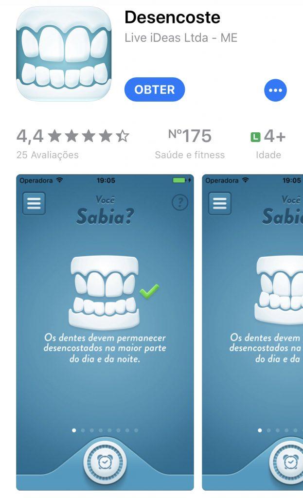 Aplicativo Desencoste os dentes para quem tem DTM